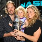 Clijsters married her husband, Brian Lynch, in 2007. Lynch, a former European basketball player, was on hand to celebrate her U.S. Open title in Times Square.