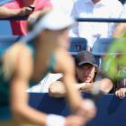Alexander Ovechkin of the Washington Capitals watches the match between Maria Kirilenko and Greta Arn.