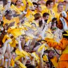Missouri's mascot sprayed the student body with cooling water and seems to have chilled the team as well. The Tigers, up by eight points in the third quarter, went down to Georgia, 41-20.