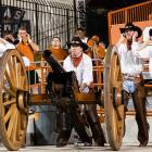 The Texas Cowboys rolled out the artillery and the Longhorns pounded New Mexico, 45-0, at Darrell K Royal-Texas Memorial Stadium in Austin.