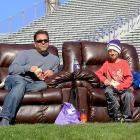 Remote location: The Best Seats in the House at Ryan Field for a 38-7 victory over South Dakota.