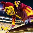 No rest for the wicked: The Sun Devils' mascot, who did push-ups for every point that Arizona State scored, got a decent workout during a 37-7 win over Utah in Tempe.