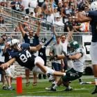 Matt Lehman scores a second-quarter touchdown to give Penn State the lead against Ohio.