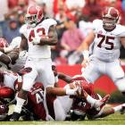 Things keep getting worse for Arkansas. After last week's shocking upset loss to Louisiana-Monroe, the Hogs suffered a humiliating home defeat at the hands of SEC West foe Alabama. With starting quarterback Tyler Wilson sidelined with a concussion, Arkansas managed to generate just 171 net yards of offense. The Razorbacks' defense, meanwhile, let Eddie Lacy (pictured) and the Crimson Tide walk all over it to the tune of 441 yards and seven touchdowns.