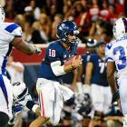 Arizona coach Rich Rodriguez was concerned about his team taking South Carolina State lightly. He had no reason to be concerned. Matt Scott (center) threw for 288 yards and three touchdowns on 30-of-36 passing, and added a 10-yard scoring run in another stellar performance to start his senior season as the Wildcats breezed through their final nonconference game. Arizona knocked off No. 18 Oklahoma State last week and opens the Pac-12 next weekend at No. 4 Oregon.