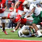 Ohio State entered as a 37-point favorite against UAB. The contest didn't exactly shake out that way, as UAB got out to a 9-0 lead and ultimately outgained Ohio State 403 yards to 347 and 22 first downs to 20. But the Buckeyes again found victory on the back of quarterback Braxton Miller (pictured), who rushed for two touchdowns, a two-point conversion and 64 yards and completed 12 passes for 143 yards.