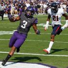 The Horned Frogs have won an FBS-best 11 consecutive games. TCU allowed its first touchdown of the year, but scored plenty of its own, as quarterback Casey Pachall threw for 305 yards and three touchdowns, including a 68-yard score to receiver Brandon Carter (pictured), who caught five passes for 128 yards.