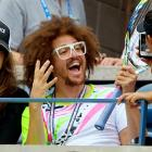 """Tough choice: While attending the U.S. Open, Mr. Gordy, otherwise known as RedFoo, challenged two admirers to tell him if the name of his electropop duo LMFAO  stands for """"Loving My Friends and Others"""", """"Laughing My [Effin'] Ass Off"""" or """"Languishing Miles From An Outhouse."""""""