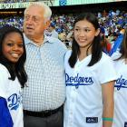 Ol' Tom's still got a way with the ladies, in this case Gabby Douglas, Kyla Ross and McKayla Maroney of the U.S. Olympic team.