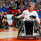 Wheelchair rugby contestant David Anthony is rightfully outraged that there are no more photos left in this week's gallery. For that, we apologize.