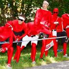 Well-red fans lined the course in Saalfelden, Austria.