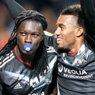 They just keep recruiting kids at younger and younger ages these days. Olympique Lyon's Bafetimbi Gomis (left, after scoring against Sparta Prague) is reportedly only two years old.