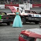 Won't nobody at Agassiz Speedway in British Columbia give this pretty lady a ride?