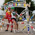 Kathryn Bertine had a decided edge on the course near Valkenburg, Netherlands, due to her deal with the devil, otherwise known as bicycle builder Didi Senft.