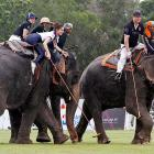The Republican campaign rolled through the Thai town of Hua Hin, where team Tiffany was battling the All Blacks ahead of the King's Cup Elephant Polo Tournament, otherwise known in the U.S. as the presidential election.