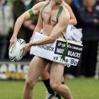 Note: This photo of the annual match between the New Zealand Nude Blacks and the South African Springbox in Dunedin, New Zealand has been sanitized for your protection.