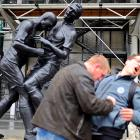 """Inspired by artist Adel Abdessemed's """"coup de tete"""", two guys in Paris re-enact the 2006 World Cup Final's most heartwarming moment."""