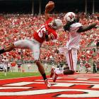 Ohio State's Devin Smith pulled down this one-handed touchdown catch against Miami of Ohio in the Buckeyes' 56-10 season-opening victory.