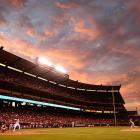 The Angels take on the Red Sox at Angels Stadium of Anaheim.