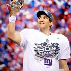Despite finishing the regular season just 9-7, the New York Giants played stellar defense and tremendously balanced offense under quarterback Eli Manning en route to a 21-17 win over the favored New England Patriots in Super Bowl XLVI. It was the second time that the Giants defeated the Patriots in a Super Bowl in the last five years, and it marked the second Super Bowl MVP trophy for quarterback Eli Manning.