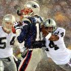 Though Tom Brady's a Bay Area native, the Tuck Rule game all but guaranteed he can't set foot in Oakland. With two minutes left to play in an AFC divisional playoff showdown, the Patriots were down 13-10 to the Raiders. Amid blizzard-like conditions, Brady dropped back and was sacked by Charles Woodson, who jarred the ball loose from Brady's grasp. The Raiders recovered, only to have the fumble overturned by an official replay citing Brady's forward motion. By the letter of the NFL law it may not have been a fumble, but for everyone outside of New England, it sure looked like one.