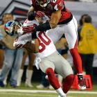 The Falcons' strong safety was fined $30,000 for his helmet-to-helmet hit on Giants receiver Victor Cruz. Hope was penalized for unnecessary roughness on the third-quarter play during Atlanta's 34-0 win in Week 15.
