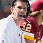 The Redskins offensive coordinator was fined $25,000 for chasing the referees into the tunnel and verbally berating them after the Redskins' 38-31 loss to the Bengals in Week 3. Redskins head coach (and Kyle's father) Mike Shanahan was visibly and vocally displeased with the officials during and after Washington's Week 2 loss to St. Louis. But it was Kyle who ended up losing his cool, sprinting after the officials after a controversial unsportsmanlike conduct call and subsequently launching a string of expletives at the crew.