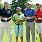 As strange as a foursome as you'll see: Jim Calhoun, actor Joe Pesci, PGA golfer Jason Bohn and ESPN anchor Karl Ravech. Why not?