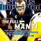 Pete Thamel points out that Notre Dame linebacker Manti Te'o is one of the biggest quandaries in college football today: He is a graduate of Barack Obama's high school, he practices the religion of Mitt Romney, and he has goals that easily resemble Tim Tebow's. After returning to South Bend for his senior season, Te'o has endured heartbreaking personal losses, but he is now the emotional and physical core of an upstart Notre Dame team.