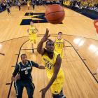 Stats to know: 14.6 ppg, 3.8 rpg  The other half of the Wolverines' backcourt is a talented second-generation star. Hardaway's three-point percentage dropped to just 28.3 percent thanks to a midseason slump last year, but his size (6-6) and talent complement Burke well and give Michigan a second quality scoring option on the perimeter.
