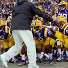 Crouching Tigers: Fumbling five times, LSU spent a fair amount of the game low to the ground and scuttling after the elusive pigskin, but still came out on top, 38-22.