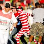 It was jailbreak time in Lubbock after the Red Raiders momentarily distracted law enforcement officials with a 49-14 mugging of West Virginia at Jones AT&T Stadium. Here's the   hysteric footage  .