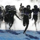 Clad in formal black attire, the ungracious hosts dropped the hammer on UNLV, 32-7.