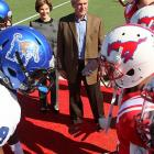 After the coin toss, the SMU Mustangs did a lotta beating around the Bushes at Gerald J. Ford Stadium in Dallas. Final score of their win over Memphis: 44-13.