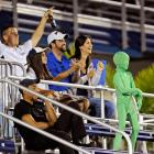 A UFO fan has landed among FIU faithful in Miami.