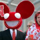 Someone smells a rat at Memorial Stadium in Lincoln.