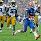 It looks like Florida is finally back. The Gators held the Tigers' offense entirely in check, limiting Zach Mettenberger and Co. to just 200 total yards, 42 rushing yards and eight first downs in a statement Week 6 victory. Jeff Driskel completed 8-of-12 passes for Florida, and running back Mike Gillislee (pictured) ran wild. The 5-foot-11, 209-pound senior ran for 146 yards and two touchdowns -- both of which came in the second half.
