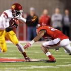 Though it fell behind early, USC rallied from a 14-0 deficit to take down Utah in Week 6. Matt Barkley paced the aerial attack with 303 yards and three touchdowns, and Marqise Lee (pictured) led the receiving corps with 12 catches for 192 yards and a score. The Trojans' defense also came up big in the second half. Junior cornerback Nickell Robey returned a fourth-quarter interception 38 yards to the end zone.