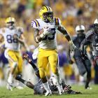 LSU has extended its home winning streak to 22 consecutive games. The Tigers trailed South Carolina 14-0 after the third quarter, but they rallied behind a breakout performance from freshman running back Jeremy Hill (pictured). Hill rushed for 123 yards and two touchdowns, and the LSU defense intercepted Gamecocks quarterback Connor Shaw twice. Ace Sanders, Marcus Lattimore and Bruce Ellington all scored for South Carolina in defeat.