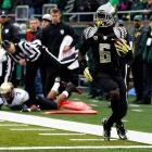 This one was over as soon as it began. De'Anthony Thomas (pictured) and the Ducks ran all over the Buffs, amassing 418 rushing and 622 total yards. Oregon didn't throw a pick or allow a sack. Colorado managed just 12 first downs.