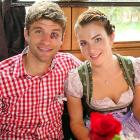 Judging by that shiner, it looks like Herr Muller, the FC Bayern Muenchen forward, was a little too forward with the Mrs. in the Kaefer Wiesnschaenke tent at the Oktoberfest in Munich.