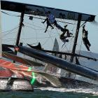 The Oracle Team USA, skippered by the flinty James Spithill, went somewhat awry during a fleet race in San Francisco Bay.