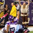 To the victor, the spoils: Tight end Kyle Rudolph and the Vikings pillaged Tennesse, 30-7, at Mall of America field in Minneapolis.