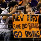 """Ravens fans show their """"respect"""" for the Browns."""