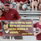 Florida State fans find inspiration in this quote from coach Jimbo Fisher.