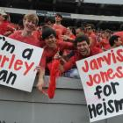 Georgia fans show their some love to Todd Gurley and Jarvis Jones during a game against Tennessee.