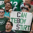 It was only a matter of time before Jets fans called for Tim Tebow to replace Mark Sanchez.
