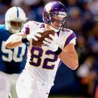 Invisible last week after the fantasy world finally caught onto him, Christian Ponder's only true red zone target will bounce back in a big way Sunday against the Titans, who have been at the mercy of tight ends to the tune of six touchdowns through four games.
