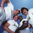 """On Monday, the Jets will induct Mark Gastineau into the team's Ring of Honor. Gastineau, with his long hair and unique Sack Dance, remains one of the most popular players of his era. He was a terror on the field as well, recording 107.5 career sacks, making five Pro Bowls and serving as part of New York's famed """"Sack Exchange"""" (pictured here) with Joe Klecko, Marty Lyons and Abdul Salaam."""
