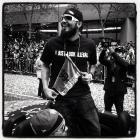 Sergio Romo at today's Giants parade in SanFrancisco..